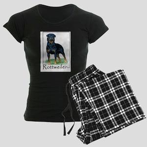 Rottweiler-1 Women's Dark Pajamas