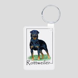 Rottweiler-1 Aluminum Photo Keychain