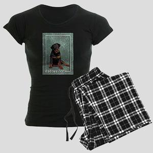 Rottweiler-2 Women's Dark Pajamas