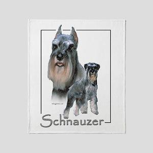 Schnauzer-1 Throw Blanket