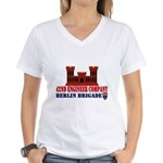 42nd Engineer Company Women's V-Neck T-Shirt