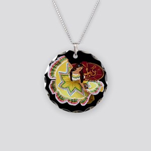 Mexican Quinceanera Necklace Circle Charm