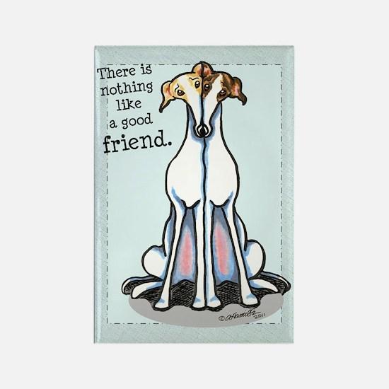 Good Friend Greyhound Rectangle Magnet