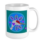 sandhill crane Large Mug