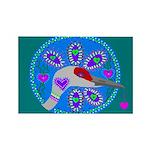 sandhill crane Rectangle Magnet