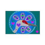 sandhill crane Rectangle Magnet (100 pack)