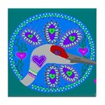 sandhill crane Tile Coaster