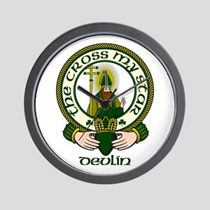 Devlin Clan Motto Wall Clock