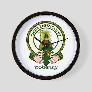 Doherty Clan Motto Wall Clock