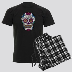 Sugar Skull Men's Dark Pajamas
