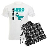 Ovarian Cancer Hero Teacher Men's Light Pajamas