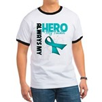 Ovarian Cancer Hero Teacher Ringer T