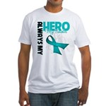 Ovarian Cancer Hero Teacher Fitted T-Shirt