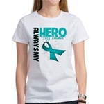 Ovarian Cancer Hero Teacher Women's T-Shirt