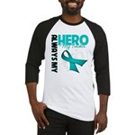 Ovarian Cancer Hero Teacher Baseball Jersey