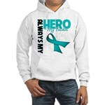 Ovarian Cancer Hero Teacher Hooded Sweatshirt