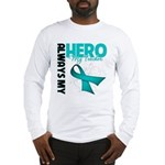 Ovarian Cancer Hero Teacher Long Sleeve T-Shirt