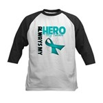 Ovarian Cancer Hero Teacher Kids Baseball Jersey