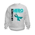 Ovarian Cancer Hero Teacher Kids Sweatshirt