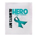 Ovarian Cancer Hero Teacher Throw Blanket