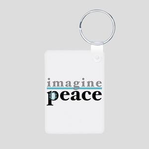 Imagine Peace Aluminum Photo Keychain