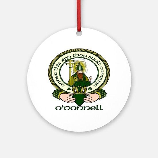 O Donnell Clan Motto Ornament (Round)