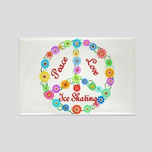 Ice Skating Peace Sign Rectangle Magnet