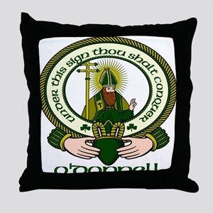 O Donnell Clan Motto Throw Pillow