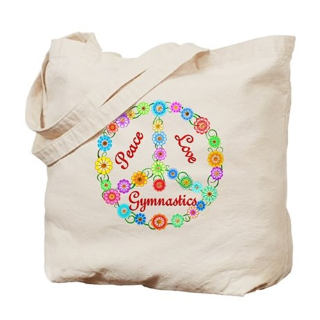 Gymnastics Peace Sign Tote Bag