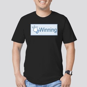 Tri-winning Men's Fitted T-Shirt (dark)