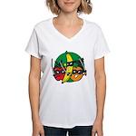 Fruits Fight Back Women's V-Neck T-Shirt