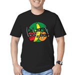 Fruits Fight Back Men's Fitted T-Shirt (dark)