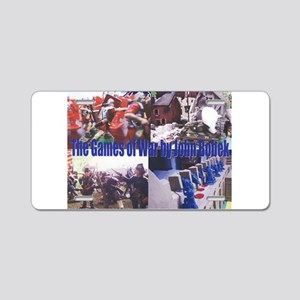 The Games of War 66 Aluminum License Plate