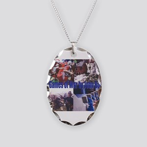 The Games of War 66 Necklace Oval Charm