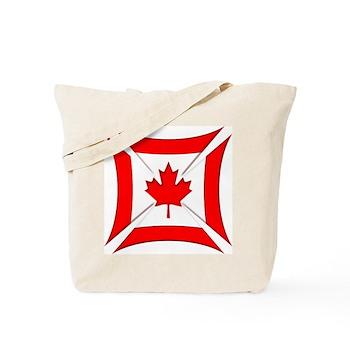 Canadian Biker Cross Tote Bag