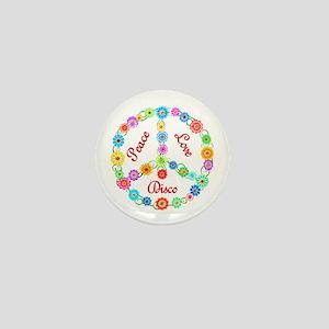 Disco Peace Sign Mini Button