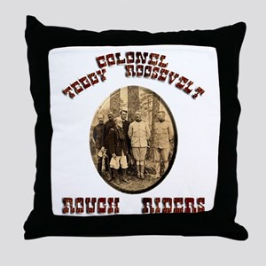 Col Teddy Roosevelt Throw Pillow