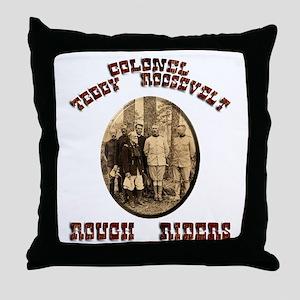 Col Teddy Roosevelt Throw Pillow