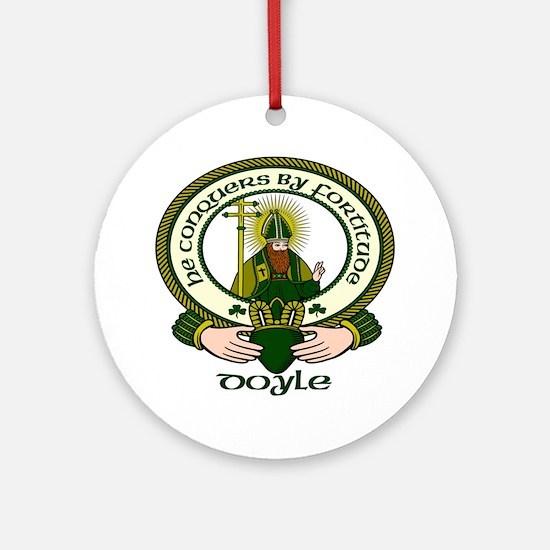 Doyle Clan Motto Ornament (Round)