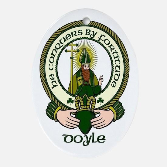 Doyle Clan Motto Oval Ornament