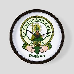 Duggan Clan Motto Wall Clock