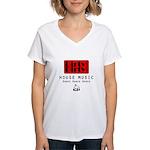 Dirty Dirty Records Women's V-Neck T-Shirt