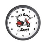 Just Gotta Scoot Elite Wall Clock