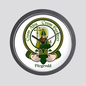 Fitzgerald Clan Motto Wall Clock