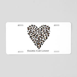 Exotic Cat Lover Aluminum License Plate