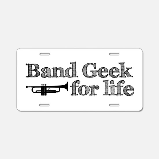 Trumpet Band Geek Aluminum License Plate