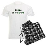 GLUTEN IS THE ENEMY Men's Light Pajamas