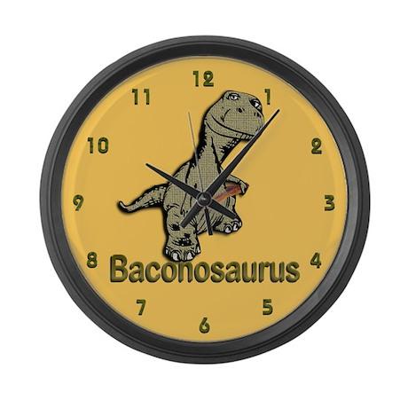 Baconosaurus Large Wall Clock