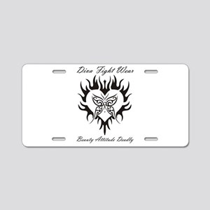 """Diva Fight Wear"" Aluminum License Plate"