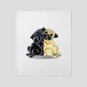 Black n' Fawn Pug Throw Blanket